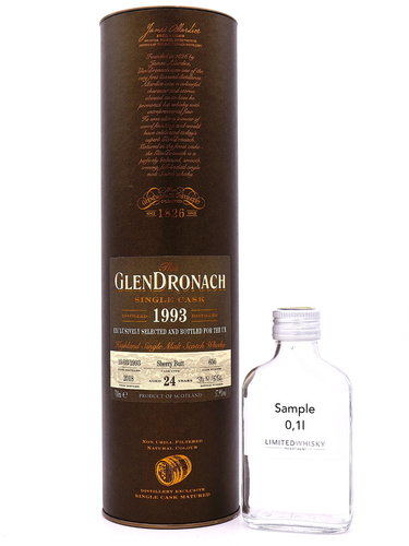 Glendronach 24 Jahre 1993/2018 UK exclusive Single Cask #656 - Sample 0,1l -